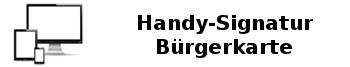 Mit Handy-Signator oder Bürgerkarte unterzeichnen